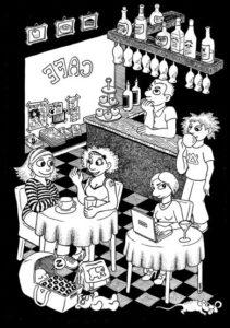 Her findes ilustrationer, tegneserier m.v. fra dygtige Ina Korneliussen